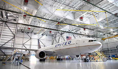 Dulles International Airport United Widebody Hangar