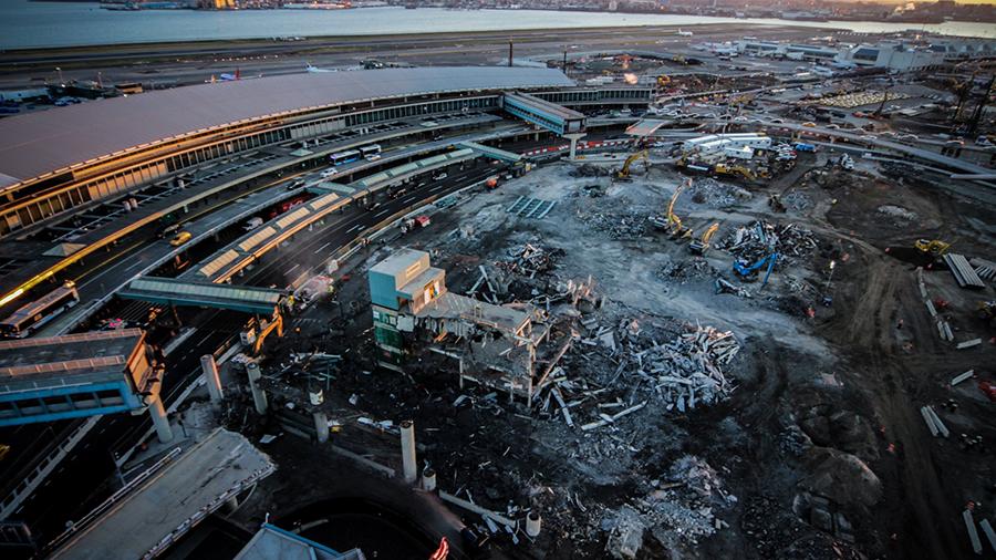 Laguardia Update Demolition Of P2 Parking Garage Makes