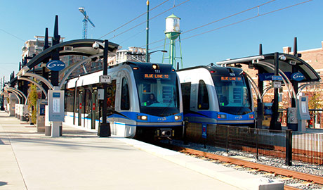 CATS Charlotte Light Rail Roadwork and Bridges